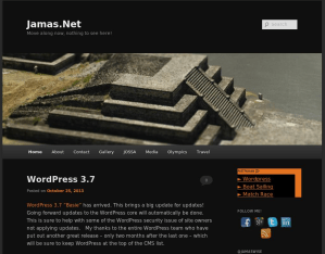 Screen capture of Jamas.Net