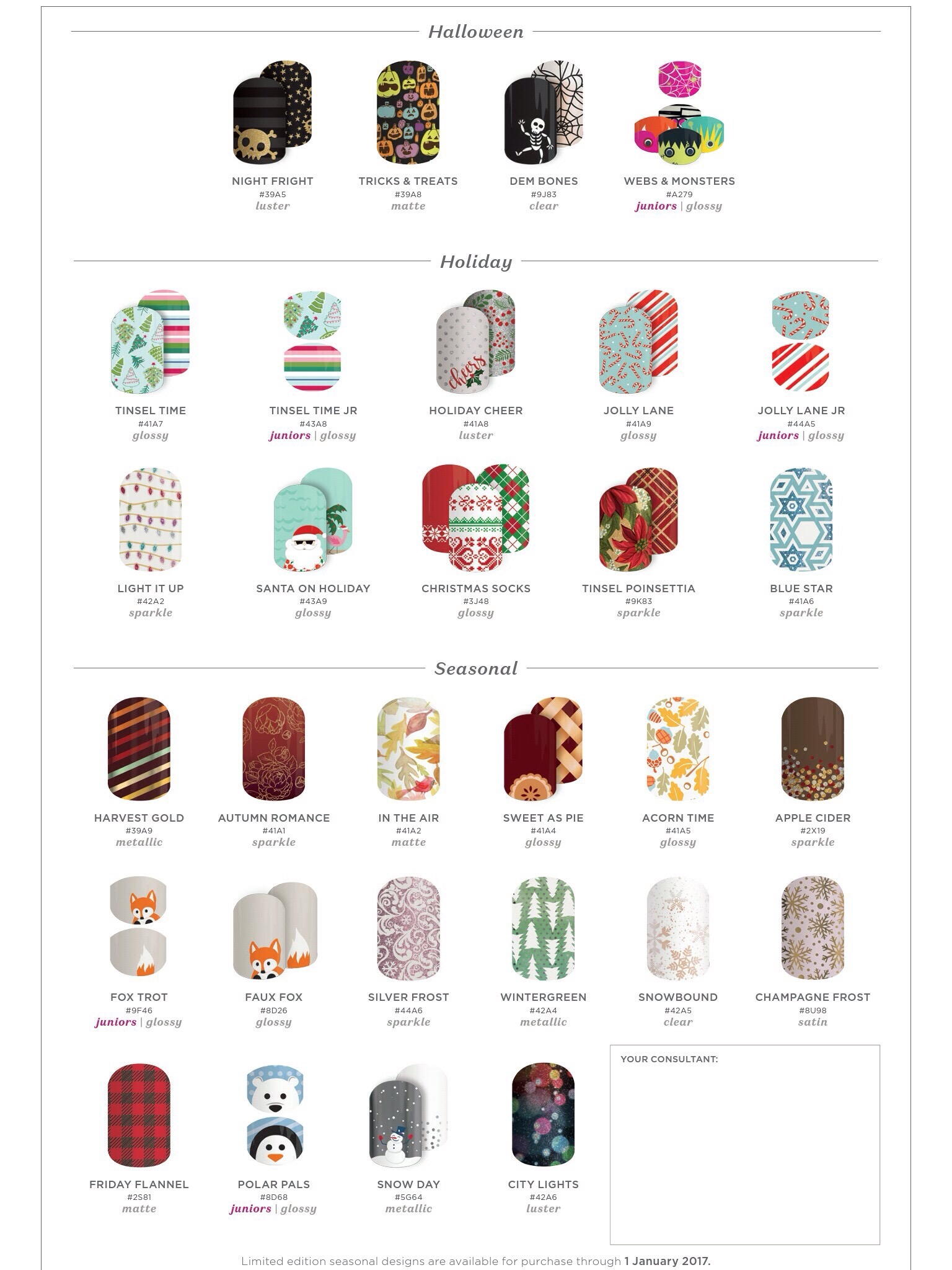 2016 Jamberry Holiday Wraps