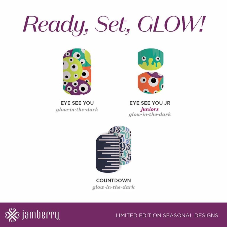 Glow in the Dark Jamberry Wraps 2016