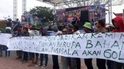 Kongres Bencana Pasigala di Lapangan Vatulemo, Palu, Senin (11/3/2019). (Ist)