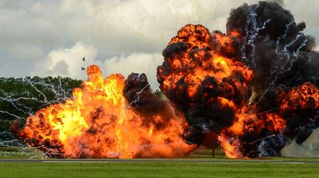 Ilustrasi ledakan bom. (Shutterstock)