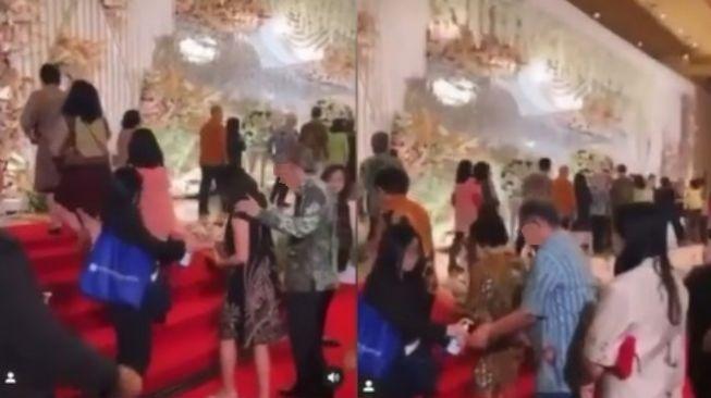 WO semprot hand sanitizer ke tamu pernikahan untuk mencegah virus corona (instagram/lambe_turah)