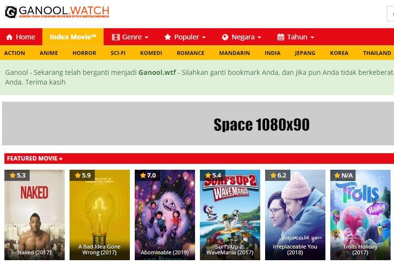 Ganool rebahin juraganfilm indoxxi lk21 xxi layarkaca21 situs streaming movie yang masih eksis. (Ist)