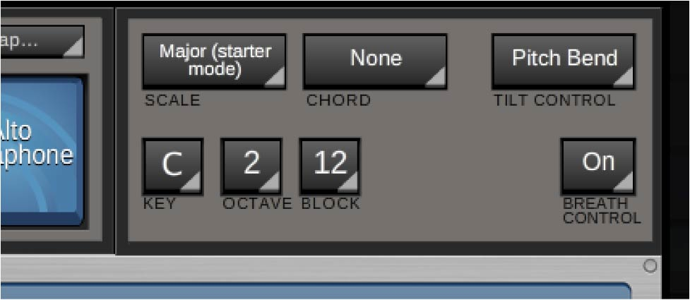 Jamboxx Pro Suite software - Scale, Chord, and Octave