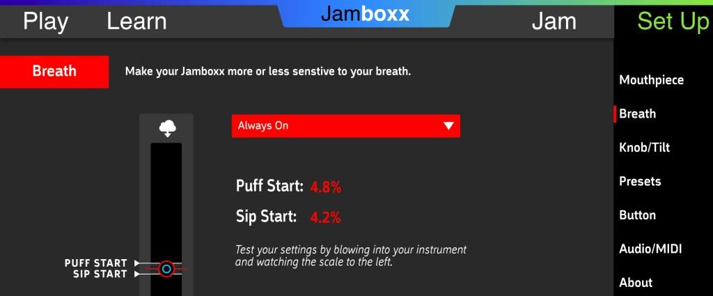 Jamboxx Breath setup
