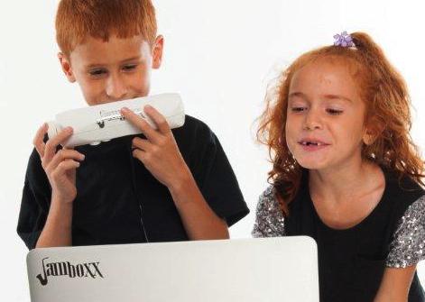 Cort kids playing the Jamboxx