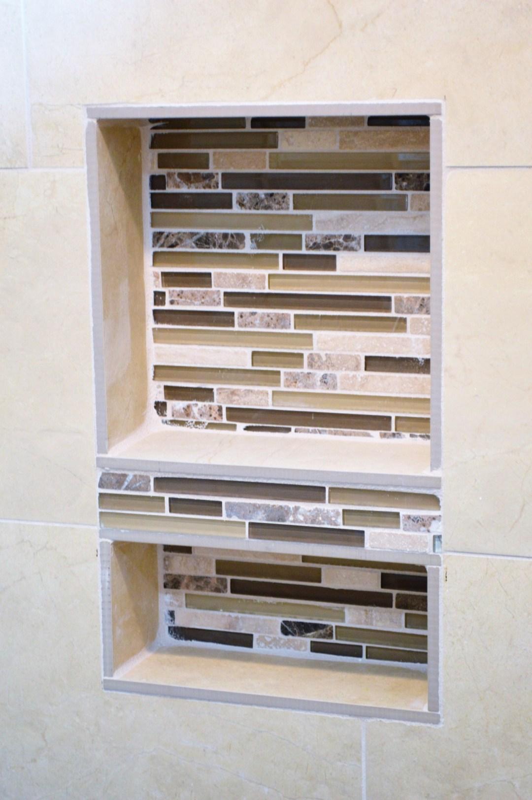 bathroom shower wall cutout