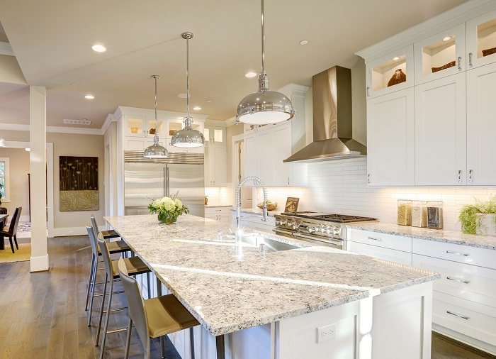 kitchen remodel with lighting