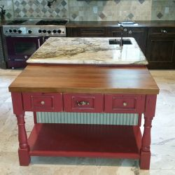 Candy Apple Red Cutting board table