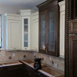 Alder wood cabinetry