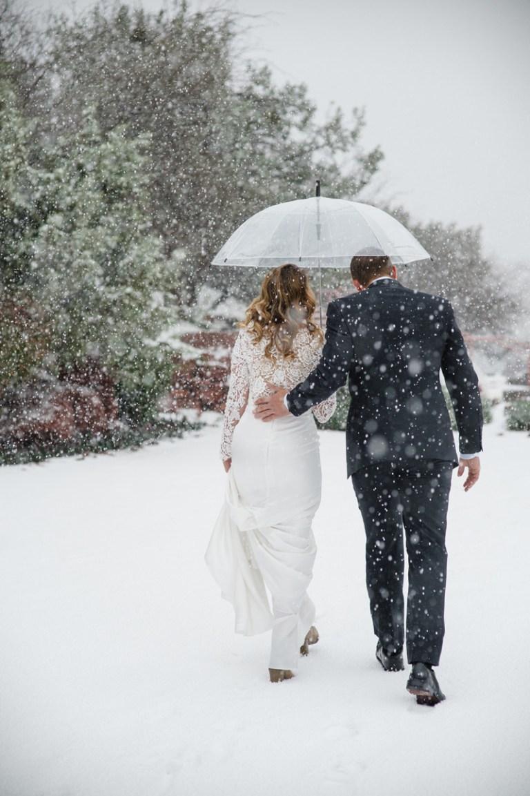 Sedona wedding winter snow