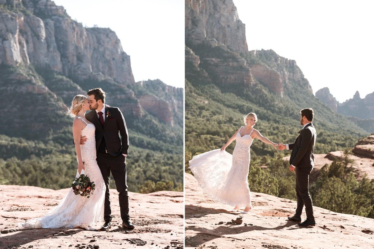 sedona adventure wedding on red rock