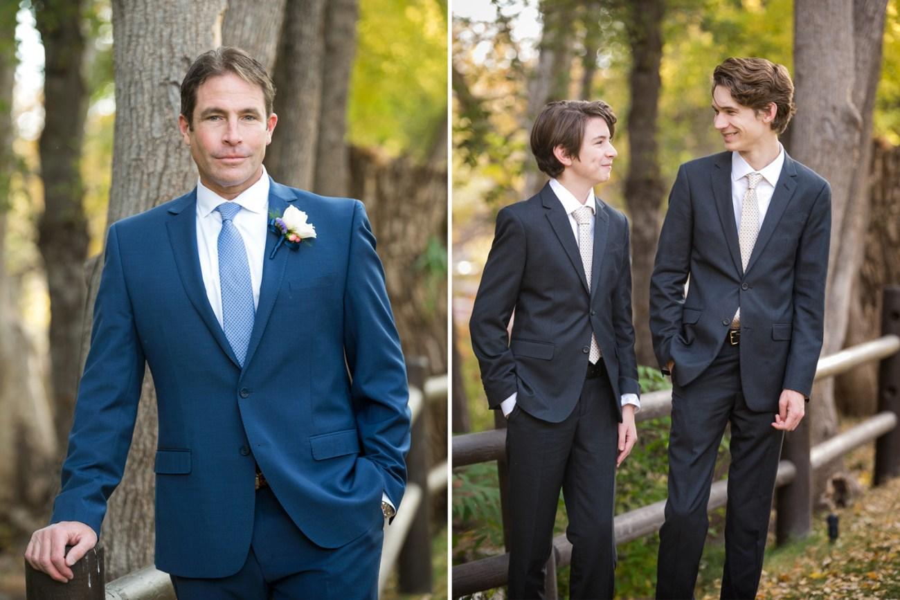 Groom and groomsmen at L'Auberge de Sedona