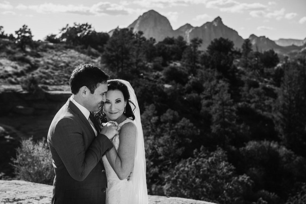 black and white sedona couple