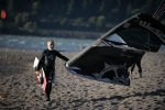 Alfonso Jimenez from Mexico kiteboarding at Hood River, OR