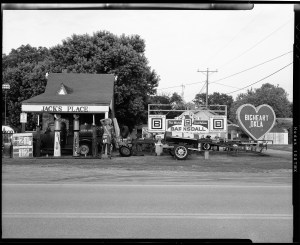 Jack's Place antique store in Barnsdall, Oklahoma. Shot on Toyo 45A view camera, TMAX-100 film, F16 1/15 sec, Rodenstock 150mm lens