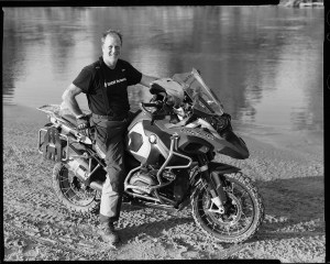 Peter Culbertson on his BMW R1200GS Adventure motorcycle