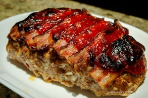 Bacon topped meatloaf recipe