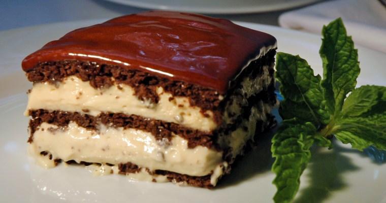 No-bake Peanut Butter Chocolate Eclair Cake