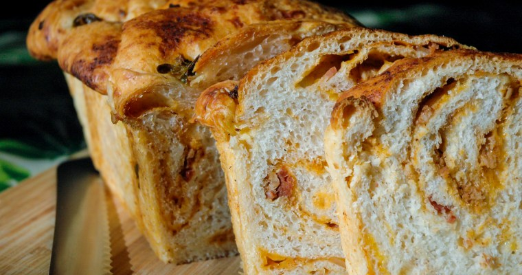 BBQ Bacon & Cheddar Braid Bread