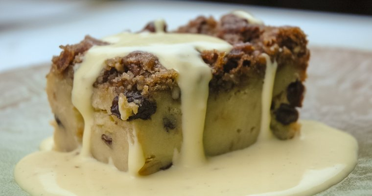Bread Pudding with Spiced Rum Creme Anglaise