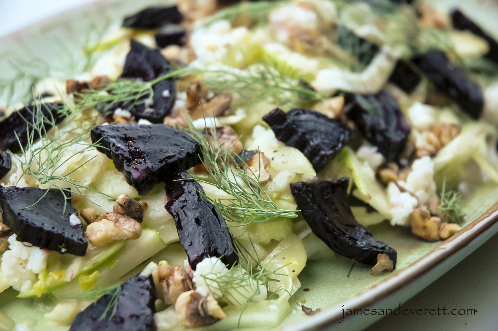 Fennel & Apple Salad with Roasted Beets