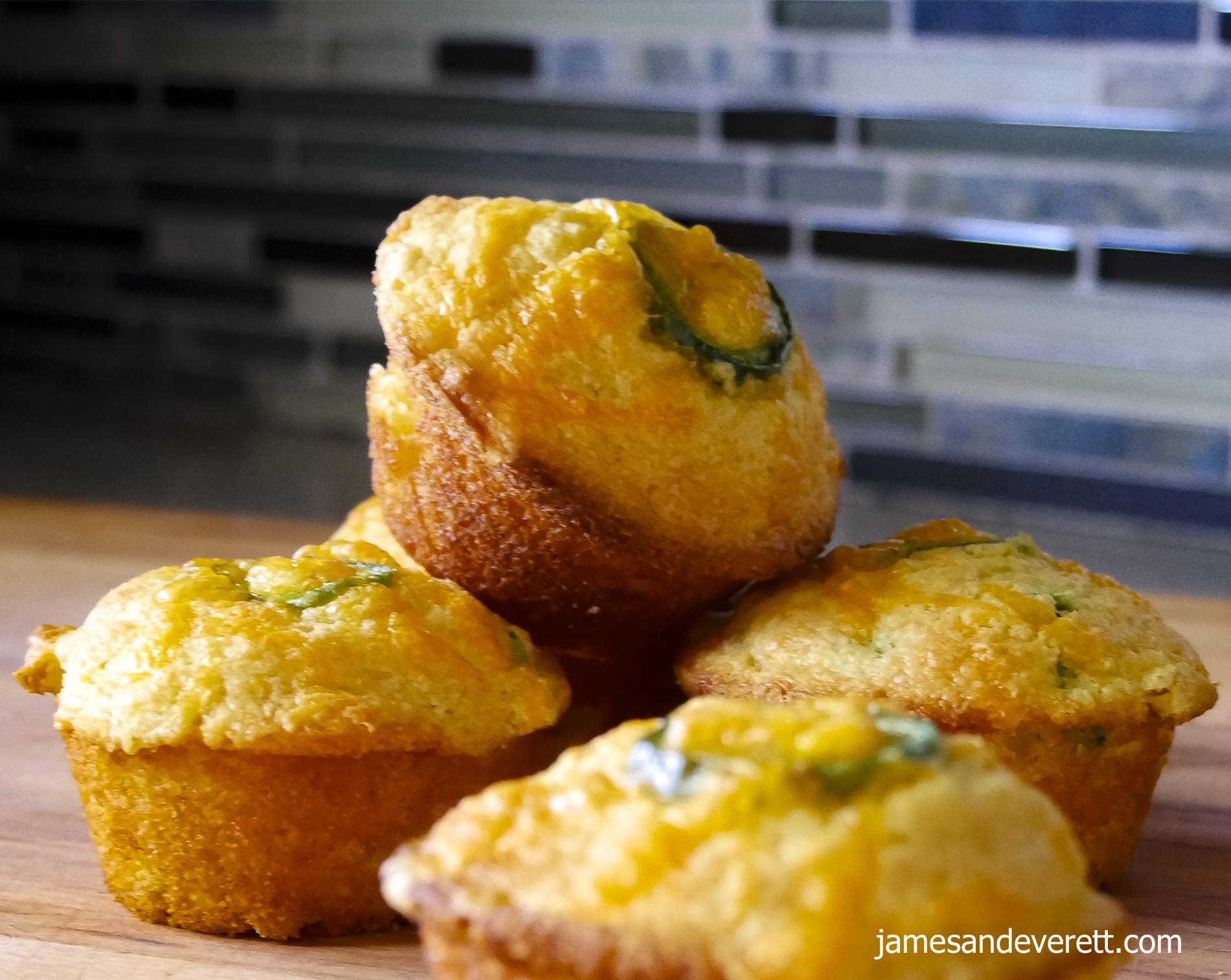 Jalapeno Cheddar Cornbread Muffins