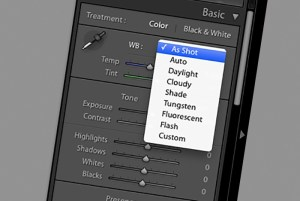 white balance controls in adobe photoshop lightroom