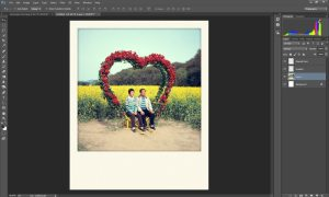 Step 2 how to use the free Polaroid Photoshop Actions