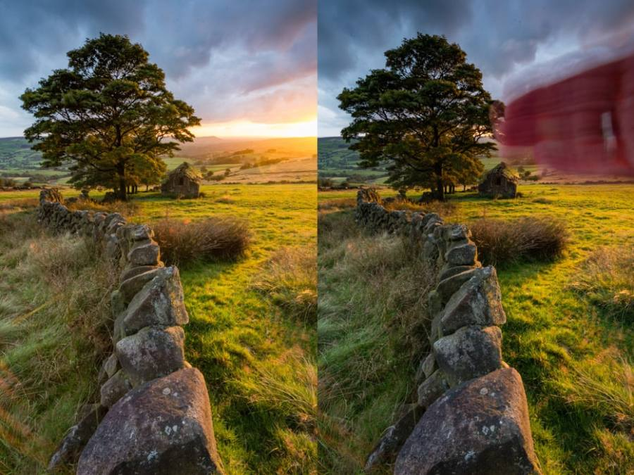 How to reduce lens flare when shooting landscapes