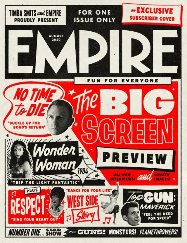 No Time To Die Empire Magzine Subscriber Cover August 2020