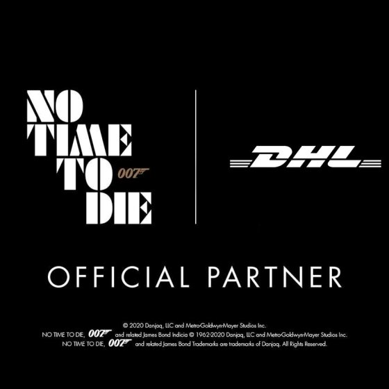 DHL Official Partner No Time To Die