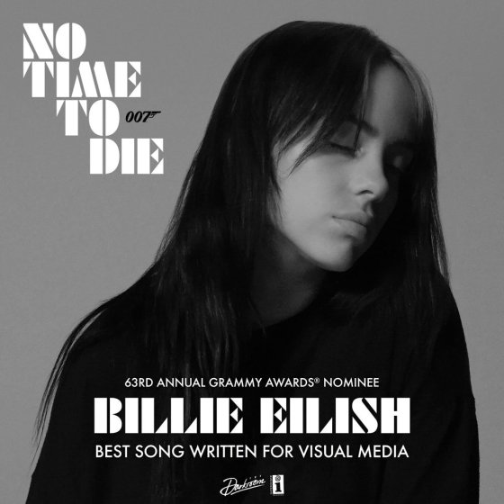 No Time To Die by Billie Eilish Grammy Award Nomination