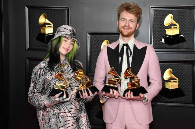 Billie Eilish and FINNEAS at the 63rd Annual Grammy Awards