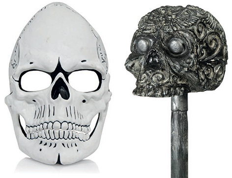 spectre day of dead james bond mask skull cane