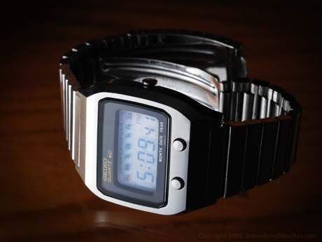 Seiko Case Number 0674 5009 Model Dk001 Lcd James Bond Watch The Spy