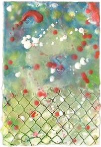 Untitled #6 (Chain Link Fence/Starry Night)