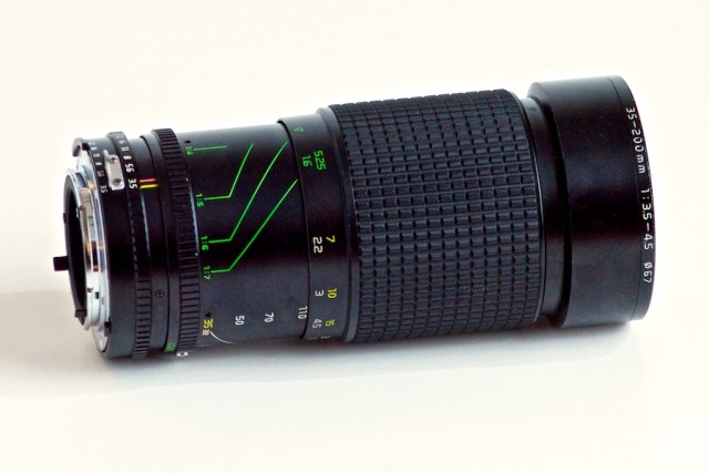 Tokina 35-200mm in Close Focus Mode