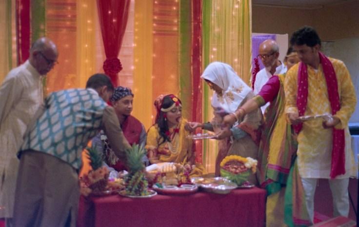 feeding the bride