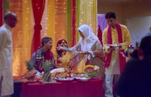 feeding the groom