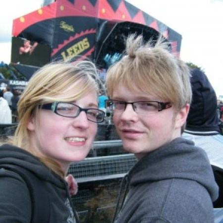 At Leeds Fest with Hannah