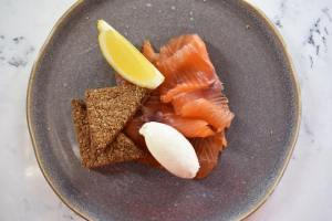 Our smoked salmon on display at Contini Cannonball