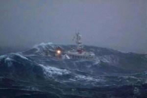 Shetland boat at sea