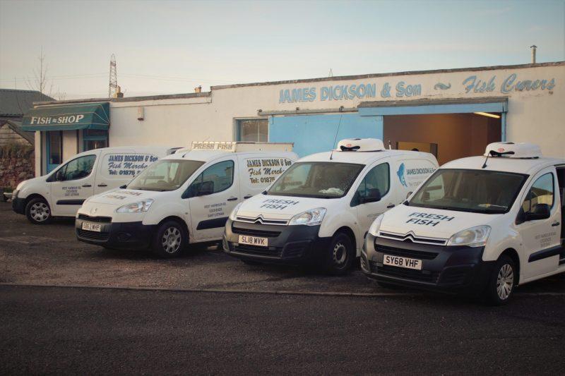 Fish delivery vans