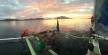Quiet evening. Coron channel