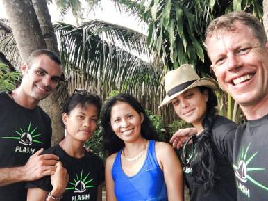 The crew with Ning, our El Nido host