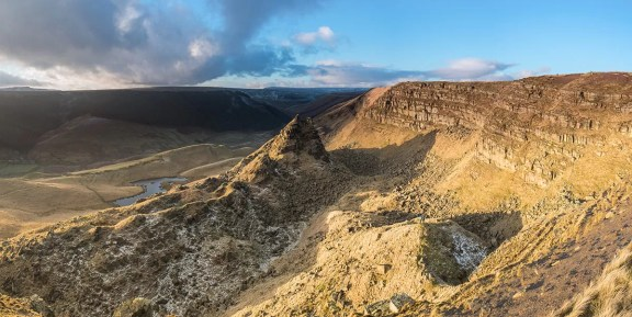 Alport Castles Panoramic - Peak District Landscape Photography