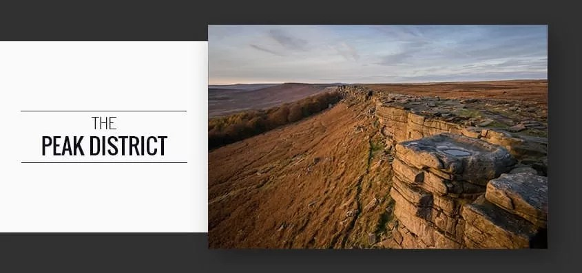 Autumn in the Peak District including Stanage Edge