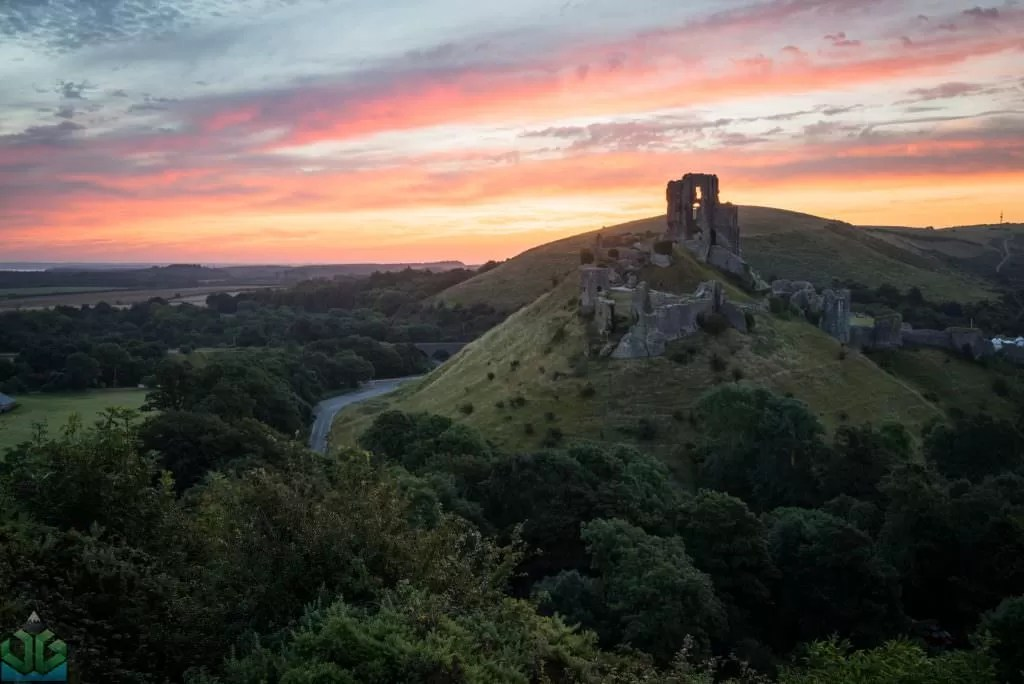 Corfe Castle Sunrise - Dorset Photography