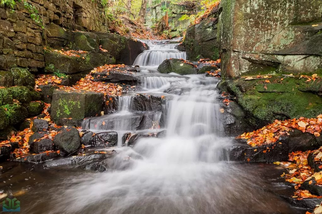 Lumsdale Cascade - Autumn in the Peak District